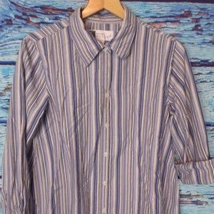 Tomorrows Mother Striped Maternity Top L